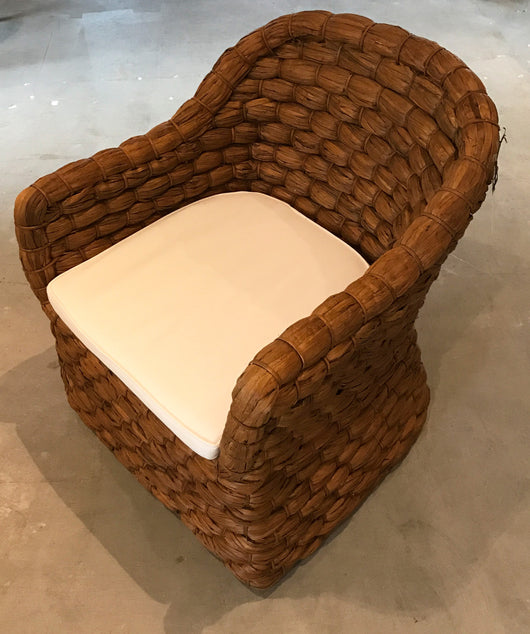 Rattan Chair with Seat Cushion