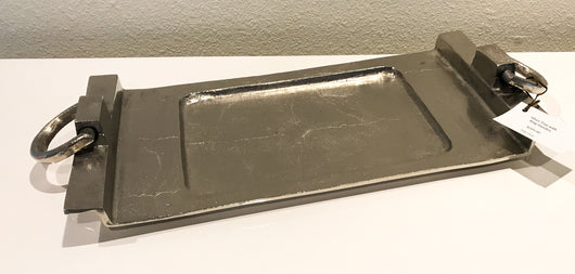 Silver Tray with Ring Handles