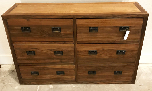 Teak Chest with 6 Drawers