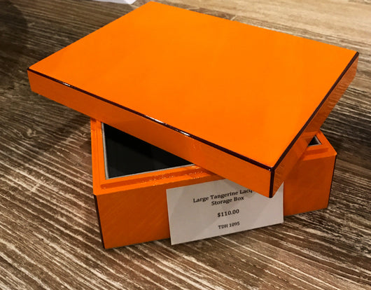 Lacquer Storage Box - Tangerine - Large