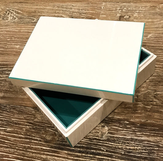 Lacquer Storage Box - Turquoise - Large