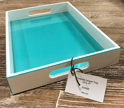 Lacquer Tray - Turquoise