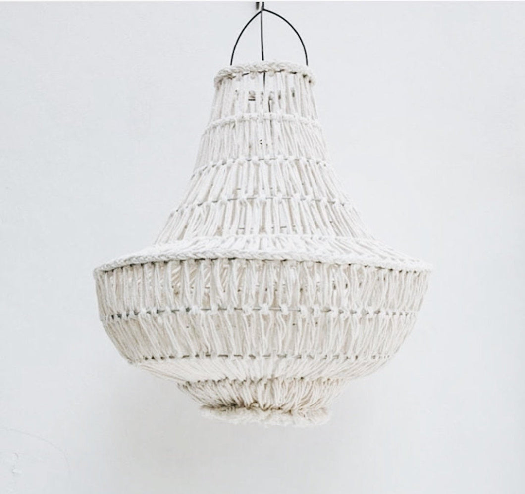 LARGE MACRAME CHANDELIER
