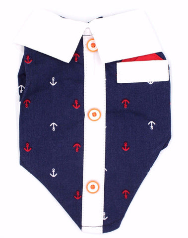 Collared Anchor Sailor Shirt