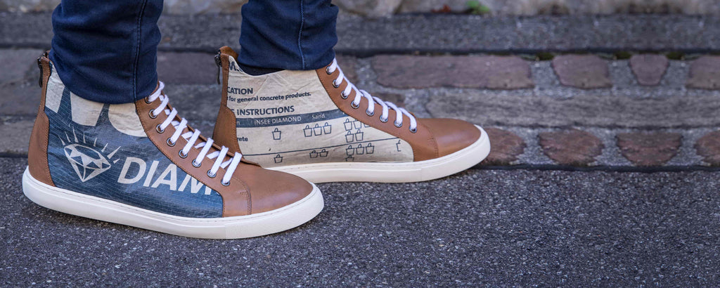 Sneaker Schuhe Recycling Upcycling Swiss Design