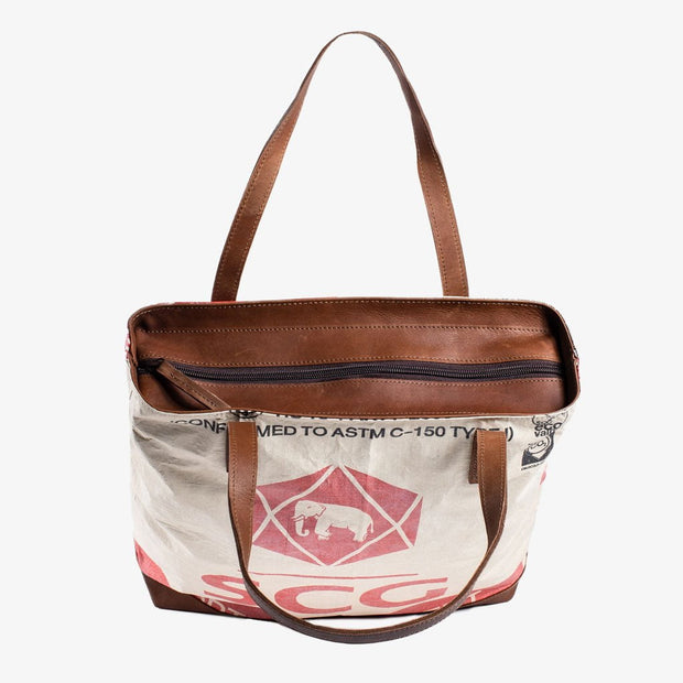 Overused Tote Zip - Red Elephant
