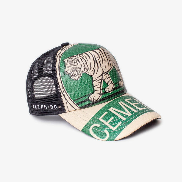 Cap Mesh - Green Tiger