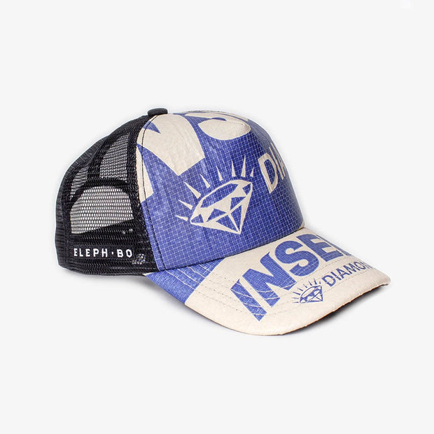 Cap Mesh - Blue Diamond