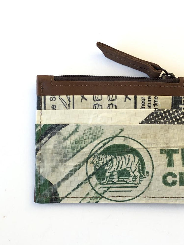 Overused Card Holder - Green