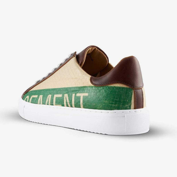 Recycling Sneaker Low 18 - Green Cement