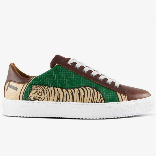 Recycling Sneaker Low - Green Tiger