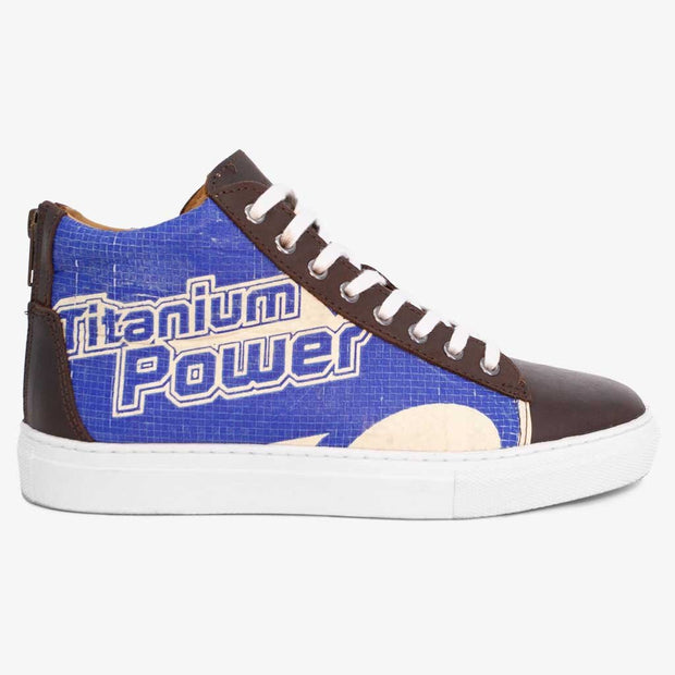 Recycling Sneaker High - Blue Diamond