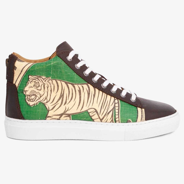 Recycling Sneaker High 18 - Green Tiger