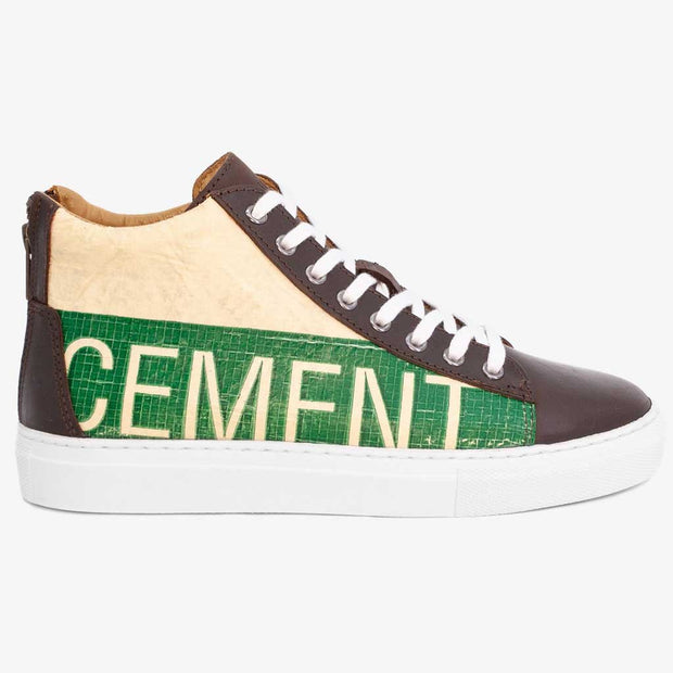 Recycling Sneaker High 18 - Green Cement