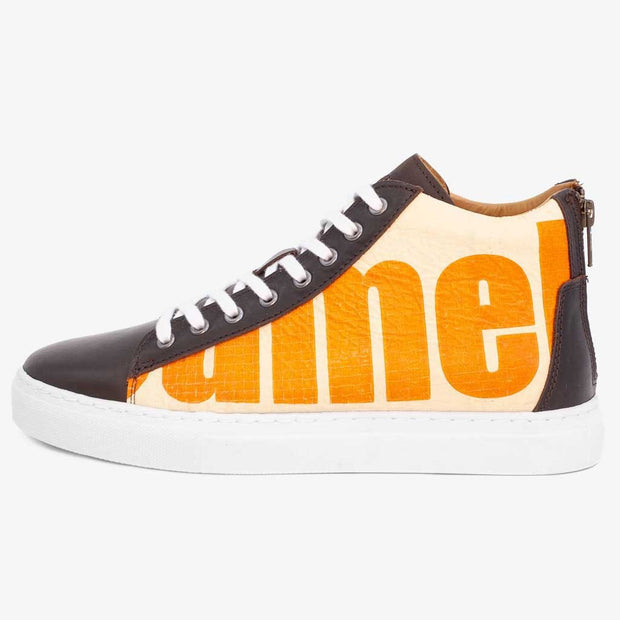 Recycling Sneaker High - Orange Big Camel