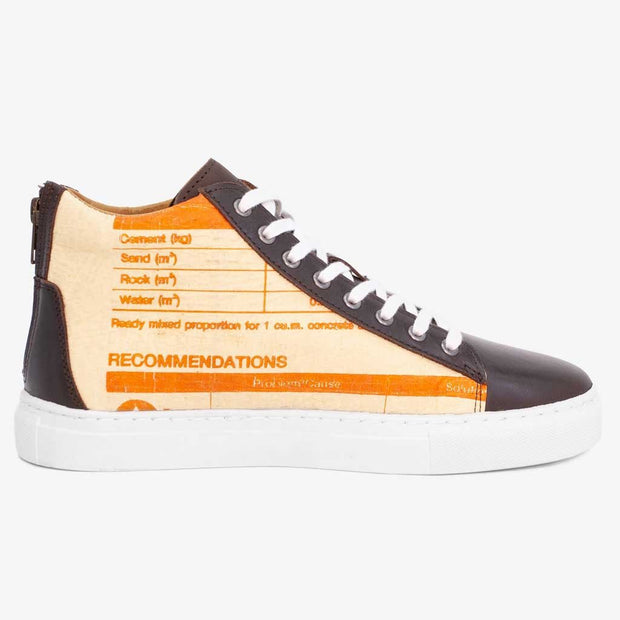 Recycling Sneaker High 18 - Orange Camel