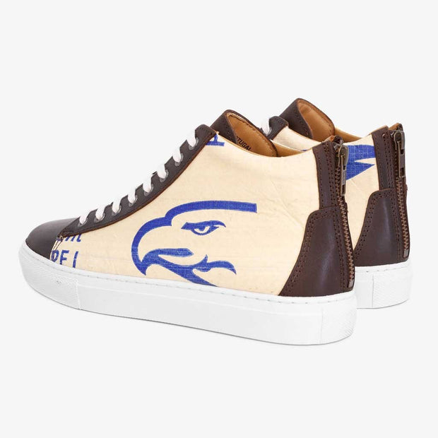 Recycling Sneaker High - Blue Eagle