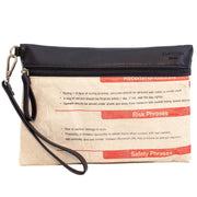 Recycling Travelbag - Red Text