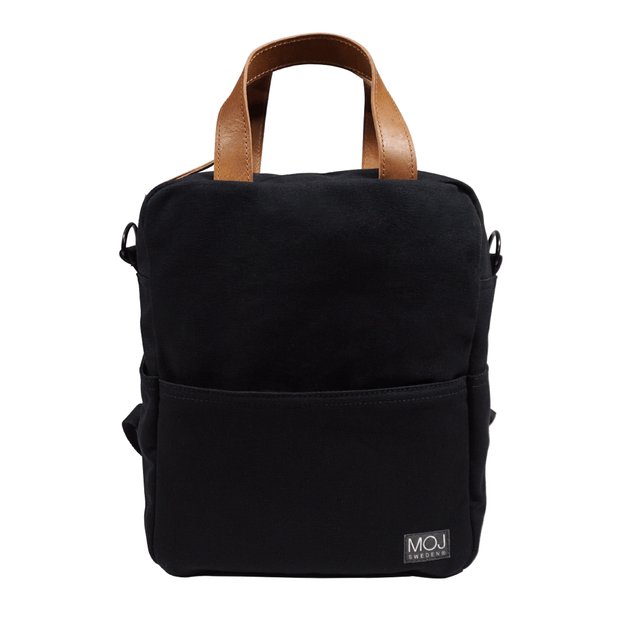 ALVIN BLACK/BROWN diaper backpack