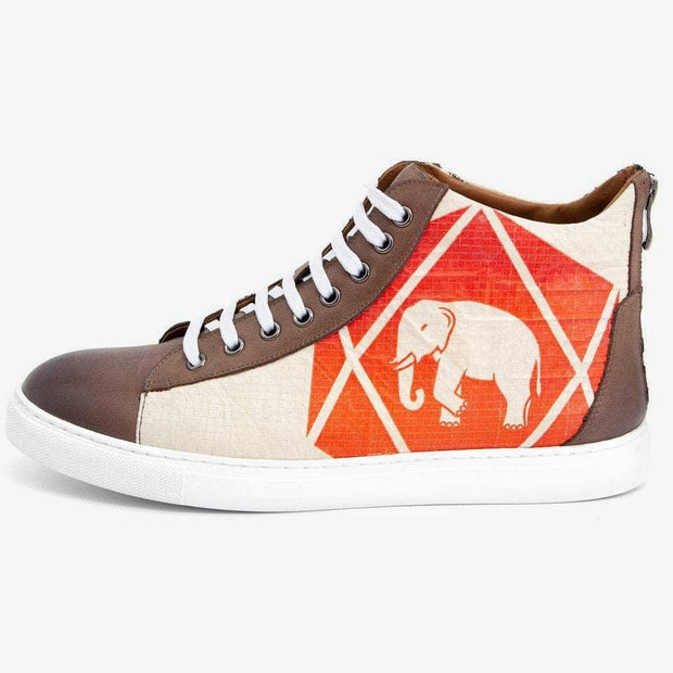 Recycling Sneaker High 17 - Red Elephant