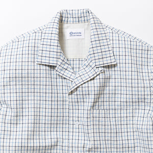 SASHIKO TATTERSALL Half Sleeve Open Collar Shirt