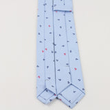 The Kensington Tie in Light Blue with Anchors