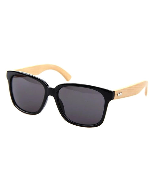 Men's Bamboo Wood Sunglasses Brown / Black / Leopard