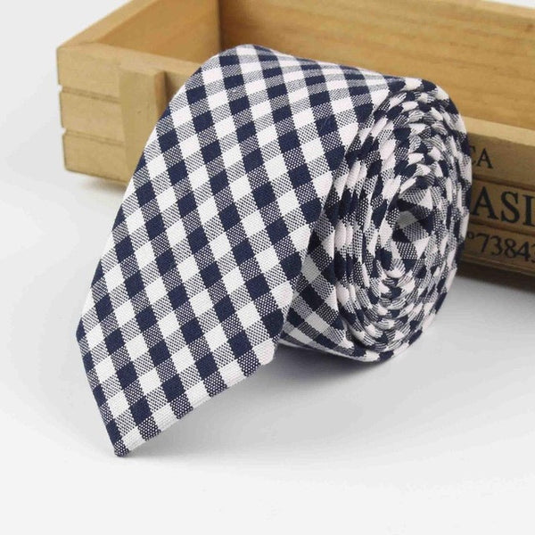 The Kensington Tie in Black & White Checkered