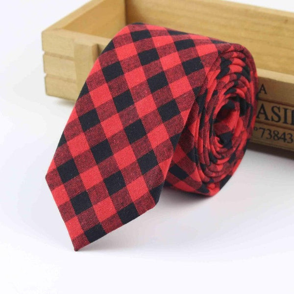 The Kensington Tie in Red & Black Checkered