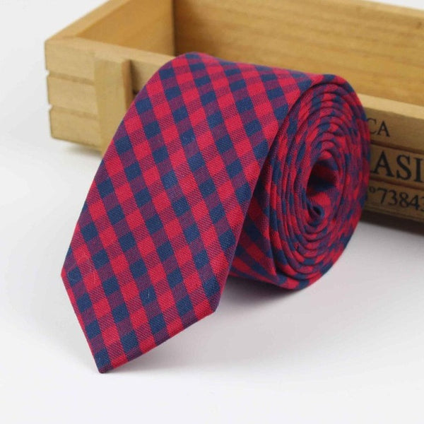 The Kensington Tie in Blue & Red Checkered