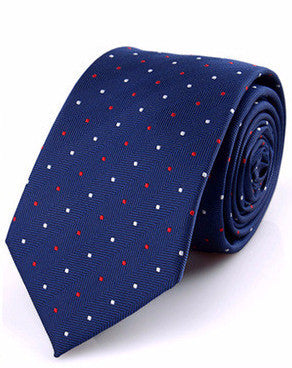 The California Dream in Blue with Red & White Polka Dots