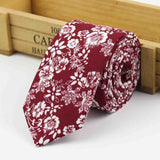 The Kensington Tie in Dark Red Floral