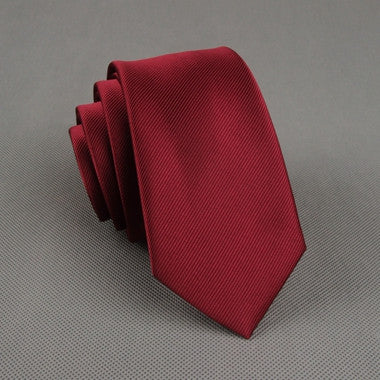 The Businessman in Wine Red
