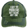 99 Problems Failure Ain't One Hats CustomCat Dark Green/Navy One Size