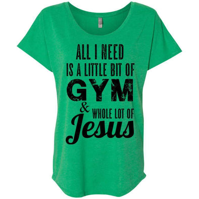 All I Need is Jesus black T-Shirts CustomCat Envy X-Small