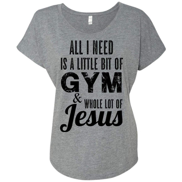 All I Need is Jesus black T-Shirts CustomCat Premium Heather X-Small