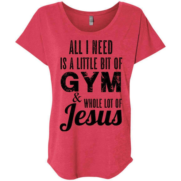 All I Need is Jesus black T-Shirts CustomCat Vintage Red X-Small