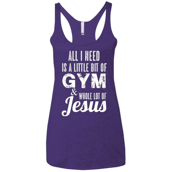 All I Need is Jesus T-Shirts CustomCat Purple Rush X-Small