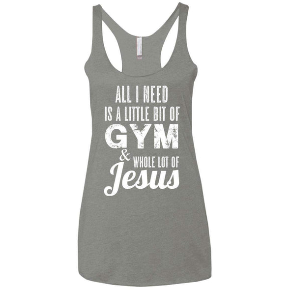 All I Need is Jesus T-Shirts CustomCat Venetian Grey X-Small