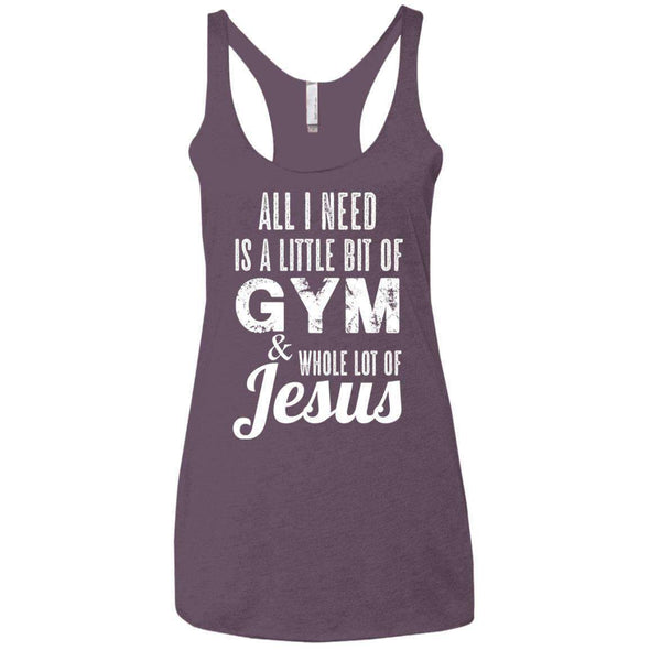 All I Need is Jesus T-Shirts CustomCat Vintage Purple X-Small