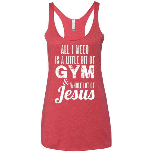 All I Need is Jesus T-Shirts CustomCat Vintage Red X-Small