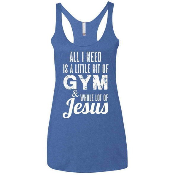 All I Need is Jesus T-Shirts CustomCat Vintage Royal X-Small