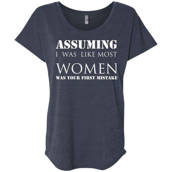 Assuming I was Like Most Women T-Shirts CustomCat Vintage Navy X-Small