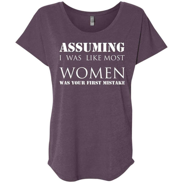 Assuming I was Like Most Women T-Shirts CustomCat Vintage Purple X-Small