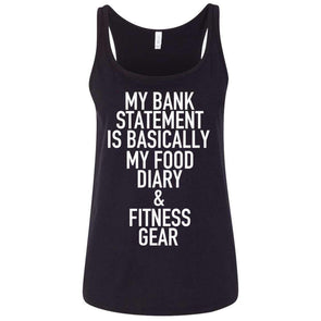 Bank Statement is Food Diary & Fitness Gear T-Shirts CustomCat Black S