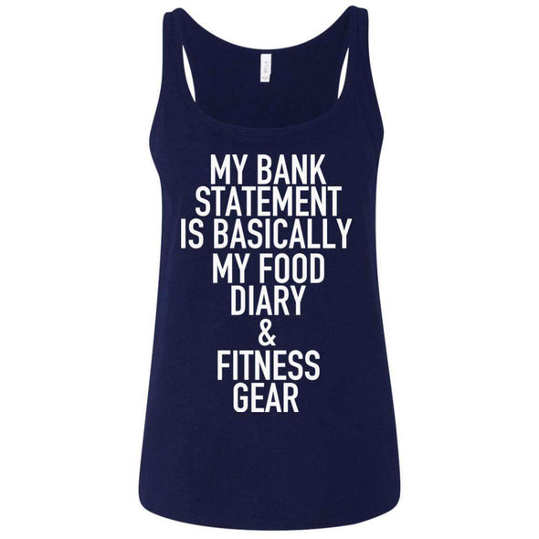 Bank Statement is Food Diary & Fitness Gear T-Shirts CustomCat Navy S
