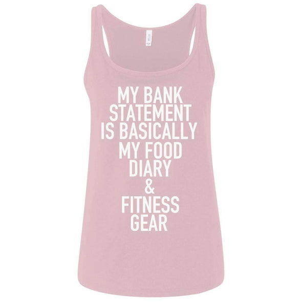 Bank Statement is Food Diary & Fitness Gear T-Shirts CustomCat Pink S