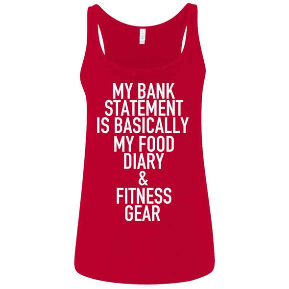 Bank Statement is Food Diary & Fitness Gear T-Shirts CustomCat Red S