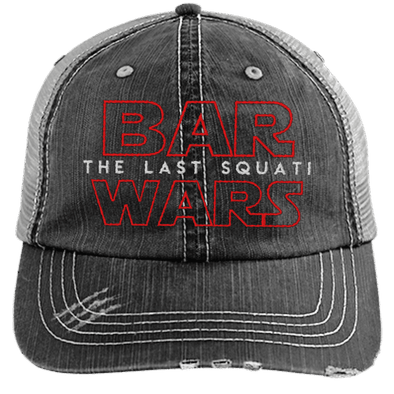 BAR WARS Hats CustomCat Black/Grey One Size