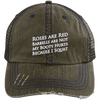 Because I Squats Distressed Trucker Cap Apparel CustomCat 6990 Distressed Unstructured Trucker Cap Brown/Navy One Size